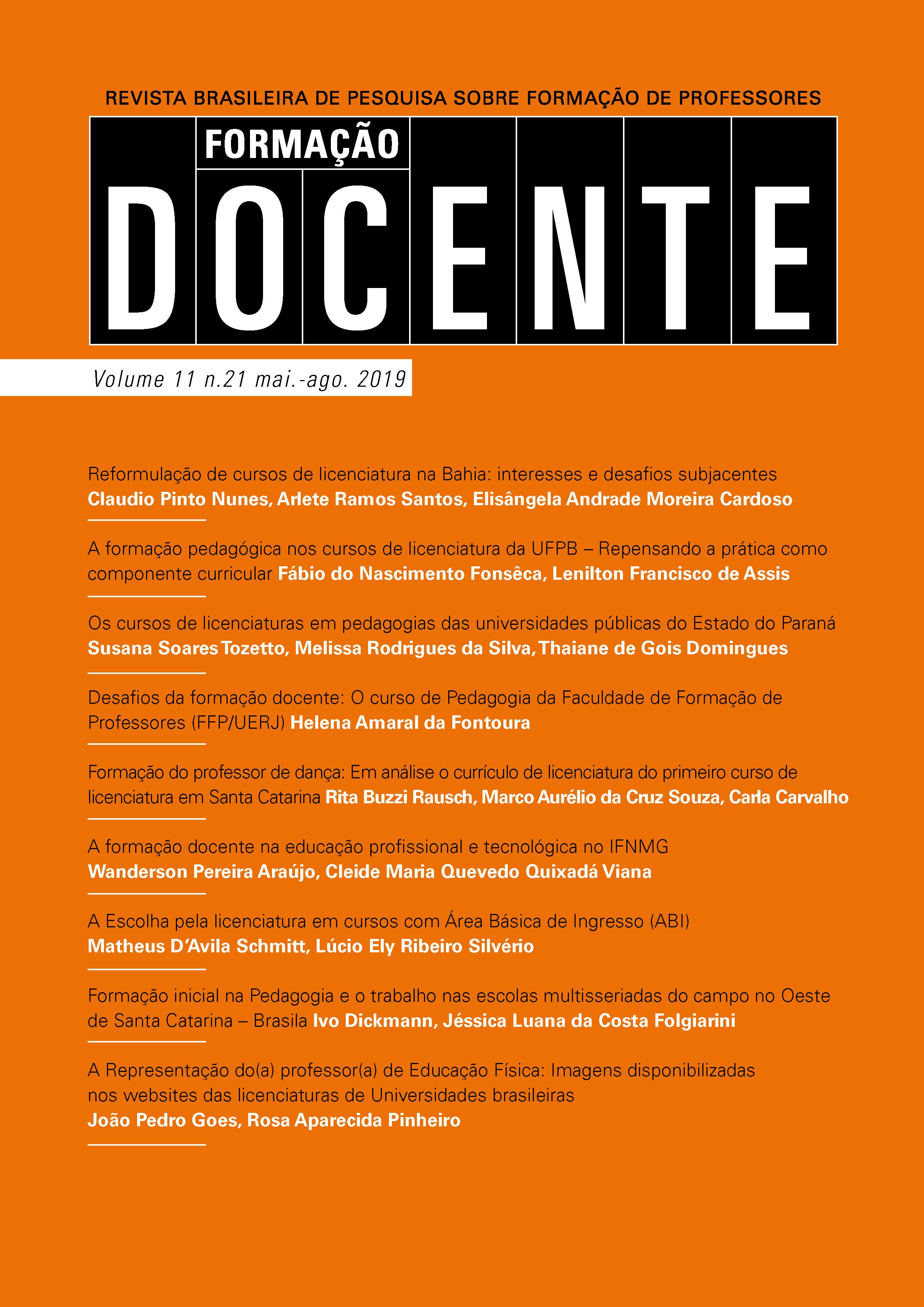 Volume 11, n. 21, maio / agosto de 2019
